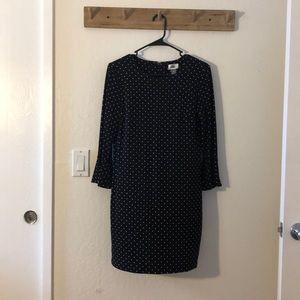 Black with white polka dot dress